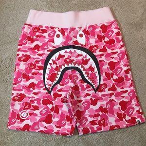 A Bathing Ape - Shark Shorts - Pink